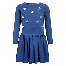 Buy John Lewis Girls' Star Sequin Dress, Blue Online at johnlewis.com