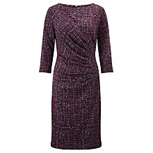 Buy John Lewis City Print Dress, Burgundy Online at johnlewis.com