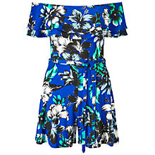Buy Miss Selfridge Print Bardot Playsuit, Assorted Online at johnlewis.com