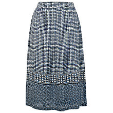 Buy Fat Face Temple Geo Midi Skirt, Navy Online at johnlewis.com