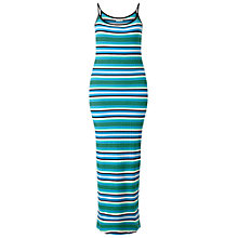 Buy Miss Selfridge Petites Multi Stripe Dress, Bright Blue Online at johnlewis.com