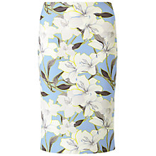 Buy Miss Selfridge Floral Midi Skirt, Blue Online at johnlewis.com