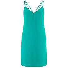 Buy Miss Selfridge Plain Cami Dress, Dark Green Online at johnlewis.com