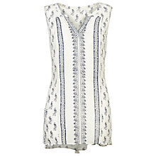 Buy Fat Face Peacock Longline Top, Ivory Online at johnlewis.com