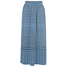 Buy Fat Face Josie Temple Geo Maxi Skirt, Navy Online at johnlewis.com