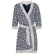 Buy Fat Face Doune Printed Dressing Gown, Navy Online at johnlewis.com