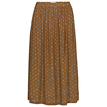 Buy Fat Face Collier Scatter Floral Midi Skirt, Demerara Online at johnlewis.com