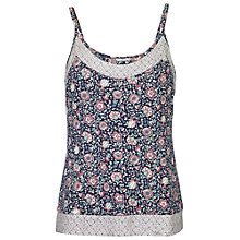 Buy Fat Face Doune Printed Cami, Navy Online at johnlewis.com