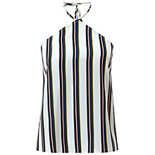 Buy Miss Selfridge Striped V-Neck Halter Top, Assorted Online at johnlewis.com