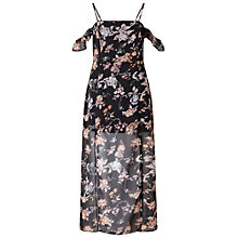 Buy Miss Selfridge Petites Floral Maxi Dress, Black Online at johnlewis.com