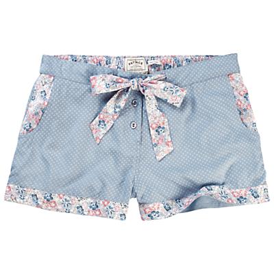 Fat Face Bossiney Floral Rayon Pyjama Shorts, Chambray