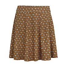 Buy Fat Face Audrey Scatter Floral Flippy Skirt, Demerara Online at johnlewis.com