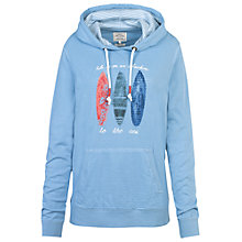 Buy Fat Face Surf Board Overhead Hoodie, Light Chambray Online at johnlewis.com