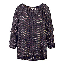 Buy Fat Face Carly Flower Bud Blouse, Phantom Online at johnlewis.com