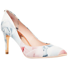 Buy Ted Baker Harmesa Pointed Toe Court Shoes, Porcelain Rose Print Online at johnlewis.com