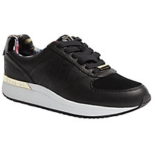 Buy Ted Baker Lwoire Lace Up Trainers, Black Online at johnlewis.com