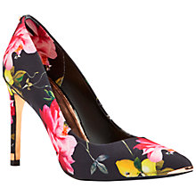 Buy Ted Baker Neevo Pointed Court Shoes, Citrus Bloom Print Online at johnlewis.com