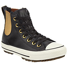 Buy Converse Chuck Taylor All Star Chelsea Boot Hi Top Trainers, Black Online at johnlewis.com