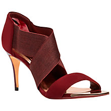 Buy Ted Baker Leniya Cross Strap Sandals, Burgundy Suede Online at johnlewis.com
