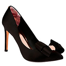 Buy Ted Baker Ichlibi Pointed Toe Stiletto Court Shoes, Black Online at johnlewis.com