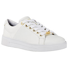 Buy Ted Baker Ophily Trainers, White Online at johnlewis.com