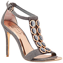 Buy Ted Baker Zlamin Embellished Ankle Strap High Heel Sandals Online at johnlewis.com