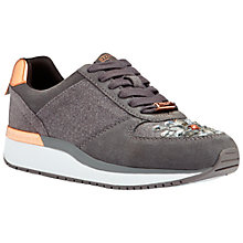 Buy Ted Baker Marcshea Round Toe Flat Trainers, Grey Online at johnlewis.com