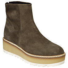 Buy Kin by John Lewis Per Flatform Ankle Boots, Grey Online at johnlewis.com