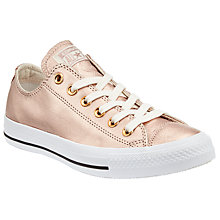 Buy Converse Chuck Taylor All Star Ox Metallic Canvas Trainers, Blush/Gold Online at johnlewis.com