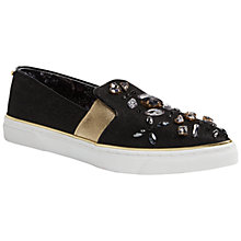 Buy Ted Baker Thfia Pointed Toe Slip On Trainers, Black Online at johnlewis.com