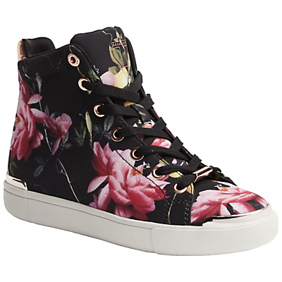 Ted Baker Vleil High Top Flat Trainers, Citrus Bloom Print