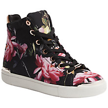 Buy Ted Baker Vleil High Top Flat Trainers, Citrus Bloom Print Online at johnlewis.com