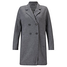 Buy Jigsaw Raw Edge Jersey Coat, Grey Melange Online at johnlewis.com