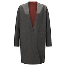 Buy Jigsaw Double Faced Sculpted Coat, Volcanic Pink Online at johnlewis.com