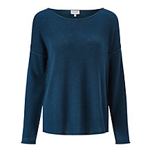 Buy Jigsaw Plated Slouchy Jumper, Petrol Online at johnlewis.com