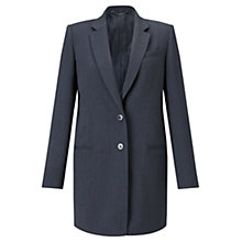 Buy Jigsaw Compact Wool Jacket, Denim Online at johnlewis.com