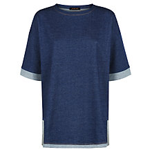 Buy Jaeger Denim Jersey Tunic Top, Indigo Online at johnlewis.com