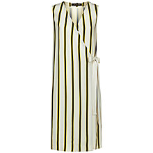 Buy Jaeger Bi-Colour Stripe Dress, Multi/Camel Online at johnlewis.com