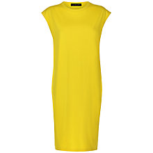 Buy Jaeger Ribbed Panel Jersey Dress, Yellow Online at johnlewis.com