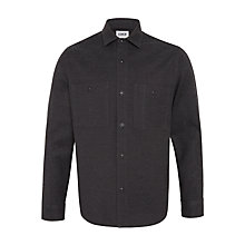 Buy Edwin Flannel CPO Shirt, Dark Charcoal Online at johnlewis.com