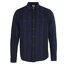 Buy Edwin Labour Shirt, Navy/Black Online at johnlewis.com