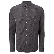 Buy Edwin Essential Shirt, Black/White Online at johnlewis.com