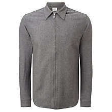 Buy Edwin Industry Virgin Wool Zipped Shirt, Grey Marl Online at johnlewis.com