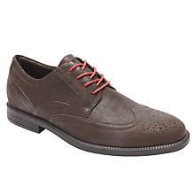 Buy Rockport Dressports Modern Wingtip, Dark Chocolate Online at johnlewis.com