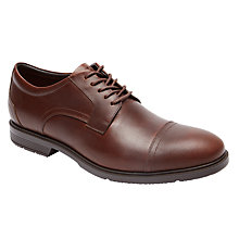 Buy Rockport City Smart Cap Toe Shoes, Brown Online at johnlewis.com