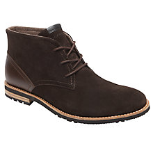 Buy Rockport Ledgehill Too Chukka Boot, Dark Chocolate Online at johnlewis.com