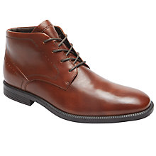 Buy Rockport Dressports Mid-Chukka Boots, Brown Online at johnlewis.com