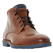 Buy Bertie Chord Corduroy Collar Lace Up Boot, Tan Online at johnlewis.com