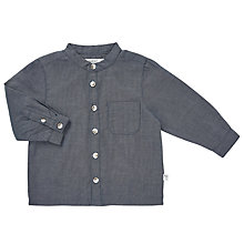 Buy Wheat Baby Chambray Long Sleeve Shirt, Navy Online at johnlewis.com