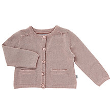 Buy Wheat Baby Ini Knitted Cardigan, Pink Online at johnlewis.com